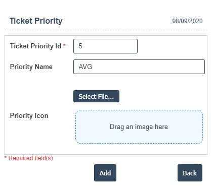 Ticket Priority addnew