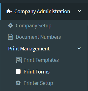 Print Forms